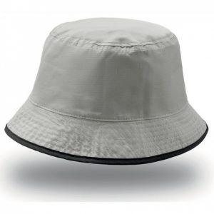 Двусторонняя панама BUCKET POCKET черный серый